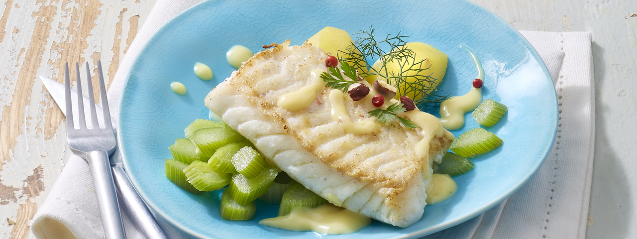 Cod backs and lemon emulsion