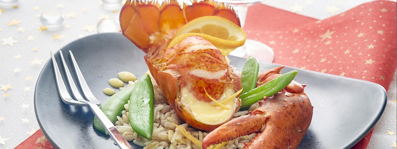 Lobster with orange cream
