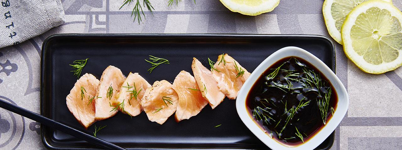Tataki salmon fillet